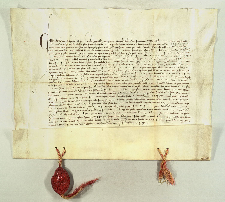 zakládací listina kláštera z roku 1323