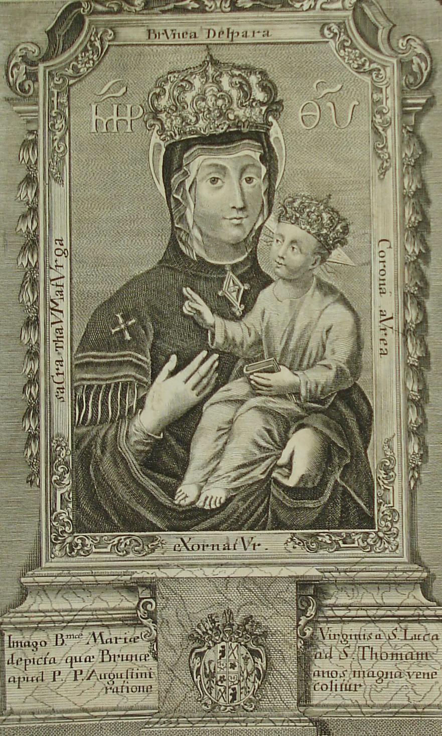 Madona Svatotomášská, mědiryt 1736