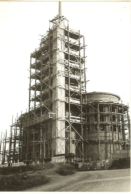 Stavba kostela sv. Augustina v Masarykově čtvrti - 1933