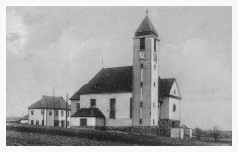 Novostavba kostela sv. Jana Nepomockého 1926