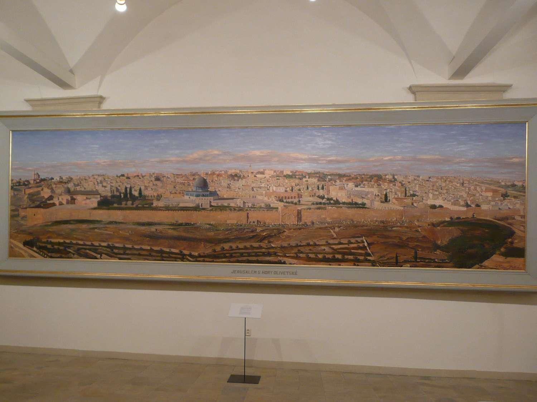 Obraz Jeruzalém z hory Olivetské od Ludwiga Bluma