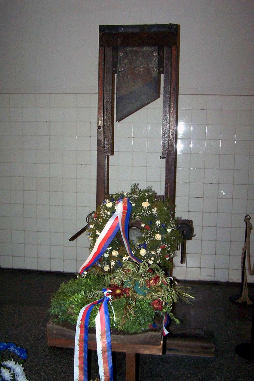 Gilotina Pankrác, místo popravy o. Zadražila