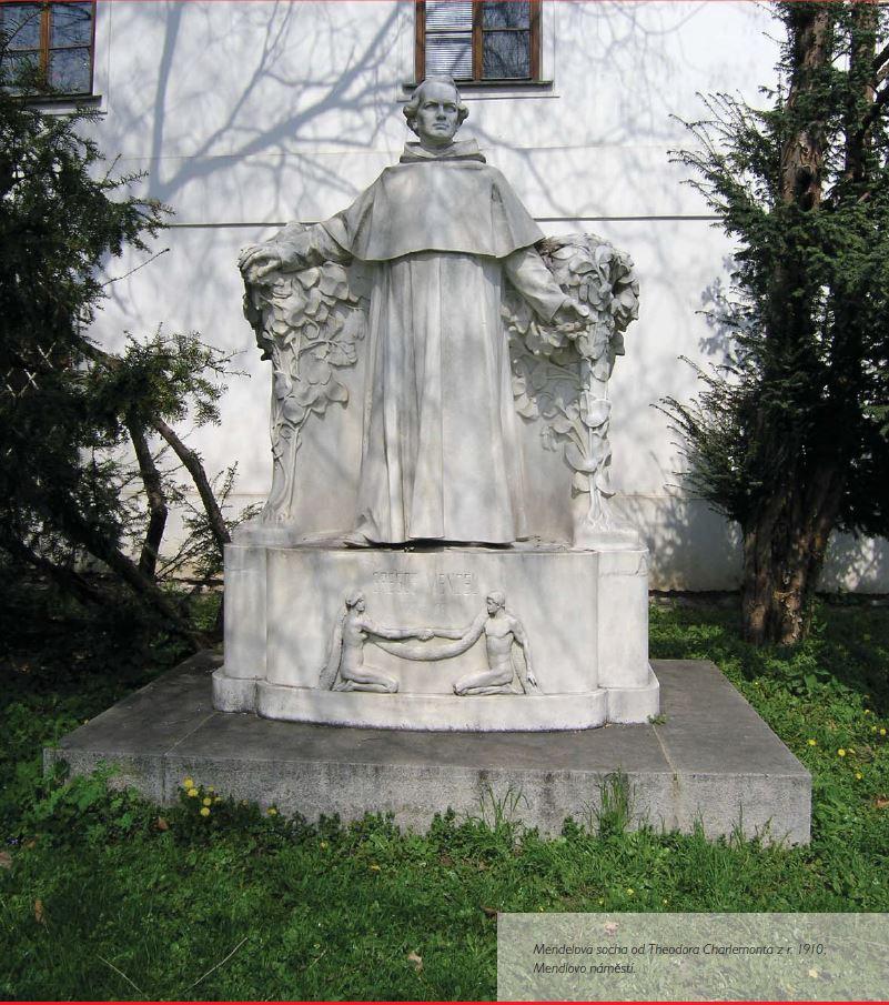 Mendel - socha v klášteře